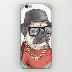 90's Pug rapper iPhone & iPod Skin