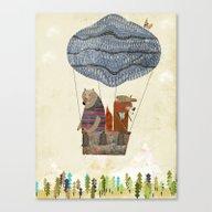 Mr Fox And Bears Wondrou… Canvas Print