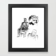 The Busy Afternoon Framed Art Print