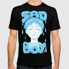 SAD BOY Mens Fitted Tee Black SMALL