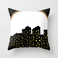 city people dont turn out their lights Throw Pillow