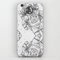 astro Traveller Retro iPhone & iPod Skin