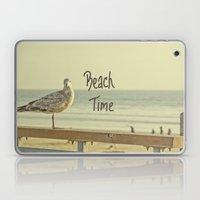 Beach Time (text) Laptop & iPad Skin