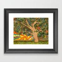 Etz haDaat tov V'ra: Tree of Knowledge Framed Art Print