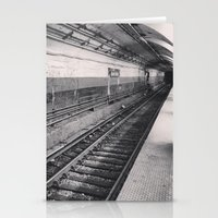 subway (black & white) Stationery Cards