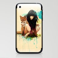 iPhone & iPod Skin featuring Fox Love by Ariana Perez