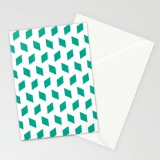 rhombus bomb in emerald Stationery Cards