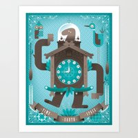 Cuckoo-o-tron Art Print
