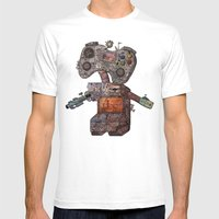 Gamebot Mens Fitted Tee White SMALL