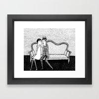 The Reading Lovers Framed Art Print
