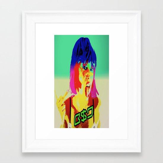 Middle finger to them all B$D  Framed Art Print