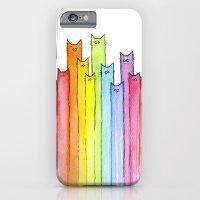 Cat Rainbow Watercolor P… iPhone 6 Slim Case