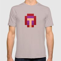 hero pixel purple red Mens Fitted Tee Cinder SMALL