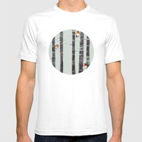Robin Trees Mens Fitted Tee White SMALL