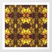 Kaleidoscope Woods Art Print