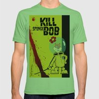 Kill Spongebob Mens Fitted Tee Grass SMALL