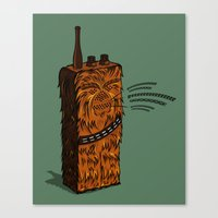 Wookiee Talkie Canvas Print