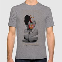 Bask In Mens Fitted Tee Athletic Grey SMALL