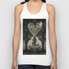 Sands of Time ... Memento Mori - Monochrome Unisex Tank Top