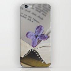 Lilac Bookmark iPhone & iPod Skin