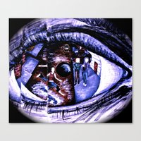 Iridology Canvas Print