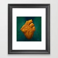 His Heart Of Gold - Pain… Framed Art Print