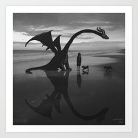 Dragon Beach Art Print