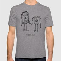 Clicked Mens Fitted Tee Athletic Grey SMALL