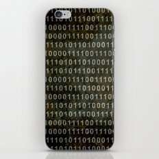 The Binary Code - Distressed textured version iPhone & iPod Skin