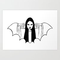 Mark of the Vampire Luna Art Print