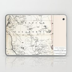 Northern California Map 1866 Laptop & iPad Skin