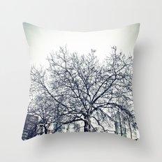 The Urban Giving Tree Throw Pillow