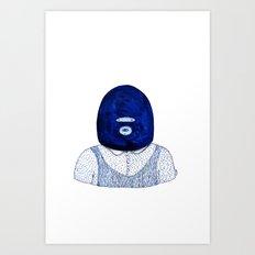 Blue Jack Art Print