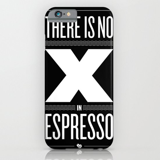 No X in Espresso – Dark Grey iPhone & iPod Case