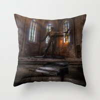 Old Party Tune Throw Pillow