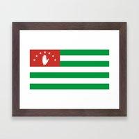 Flag Of Abkhazia Framed Art Print