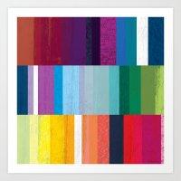 stripes Art Prints featuring Stripes by Kakel