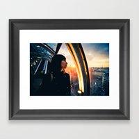 Paris Sunset Framed Art Print