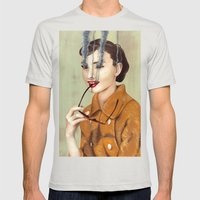 Audrey Hepburn Mens Fitted Tee Silver SMALL