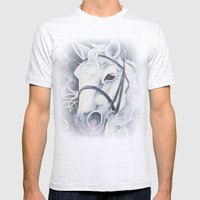 Pale White Horse Mens Fitted Tee Ash Grey SMALL