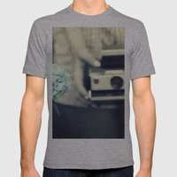 Hydrangea  Mens Fitted Tee Athletic Grey SMALL