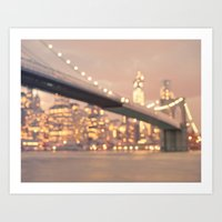 Brooklyn Bridge - Bokeh - New York City Art Print