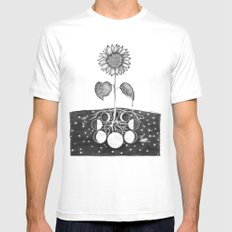 Prāṇa (Life Force) Mens Fitted Tee White SMALL
