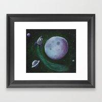 Rocket To The Moon Framed Art Print