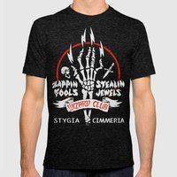 WIZARD CLUB Mens Fitted Tee Tri-Black SMALL