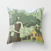 Tree Spirit Throw Pillow