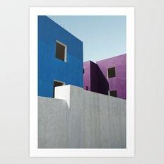 Curacao Minimal II Art Print