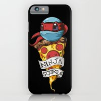 iPhone & iPod Case featuring Ninja Squirtle Raphael by Johnaddyn