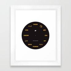Cheese Movement Framed Art Print