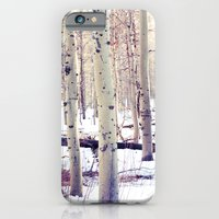 iPhone & iPod Case featuring Aspen Trees in Winter by Loaded Light Photography